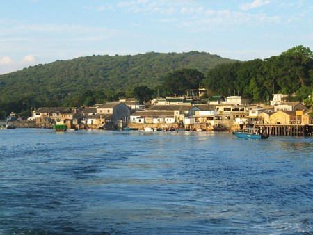 A fisherman village in the island of Tap Mum in Hong Kong