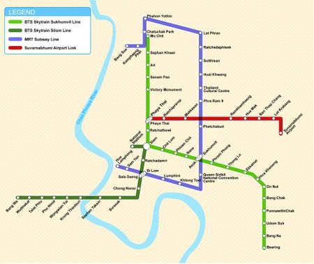 バンコク交通地図 写真素材 - 32392817