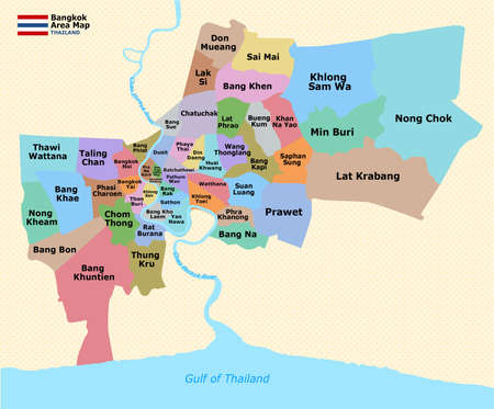 Bangkok District Map Banco de Imagens - 40789730