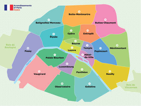 Map Of Paris Arrondissements Royalty Free Cliparts Vectors And - Show map of paris arrondissements