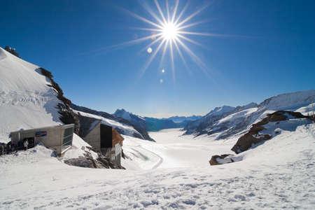 jungfraujoch: View of Jungfraujoch