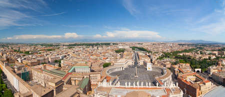 catholical: Panoramic view from roof of Saint Peter basilica Stock Photo