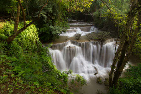 Waterfall in deep forest photo