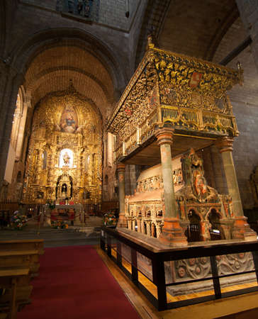 The decoration inside the cathedral of Avila, Spain