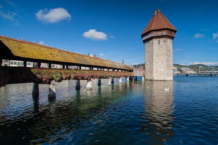 The fortification in the center of Lucern, Switzerland  photo