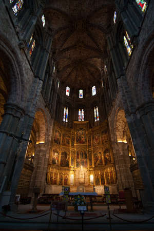 The decoration inside the cathedral in Spain