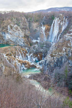 The picture from the view point of Plitvice National Park, Croatia  photo