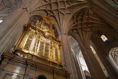 The decoration inside the cathedral of Toledo, Spain