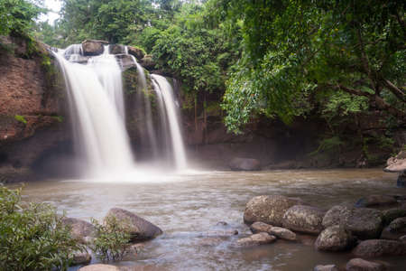 raider: The big waterfall in the movie Tomb Raider in rainy season.