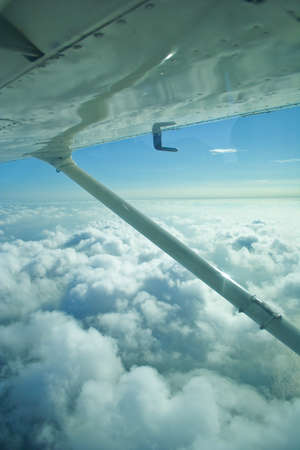 cessna: The view from the light aircraft. Stock Photo