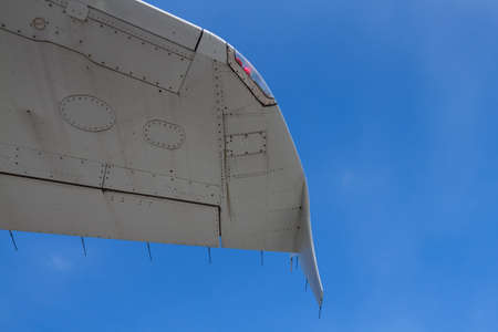 aileron: Some part of the rear side of the airplane. Stock Photo