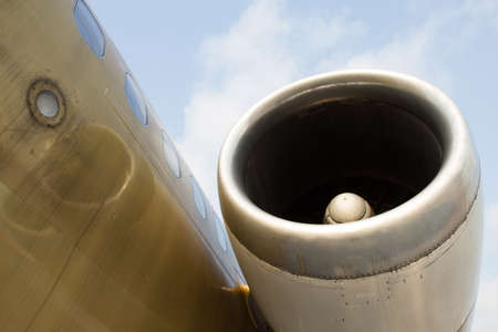 are thrust: A left engine of the aircraft