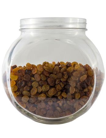 tare: Raisins in the glass tare Stock Photo
