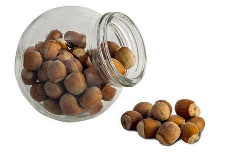 hazel nut: Hazel nut drops out glass tare