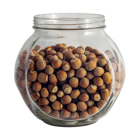 hazel nut: Hazel nut in glass tare