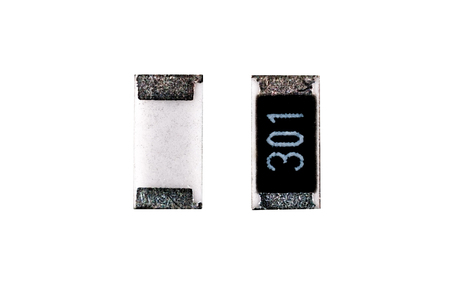 montage: SMD resistor electronic component for montage Stock Photo