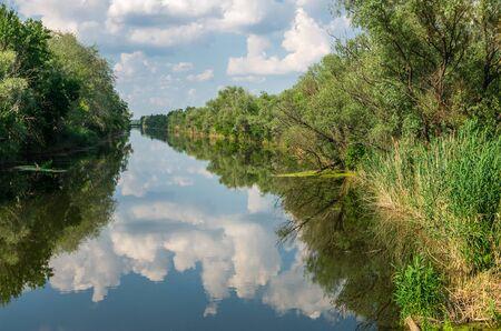 The Severskiy Donec river in Slavyansk region, Ukraine