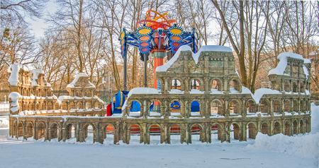 gorki: Attractions at Gorki Park in Kharkov - koliseum Editorial