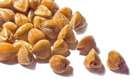 Buckwheat grain macro Stock Photo