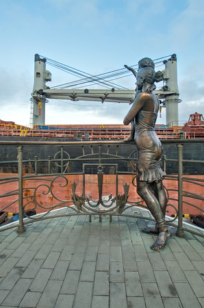 The monument at the sea station Banco de Imagens