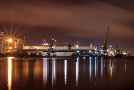 Cargo crane at the port of Odessa