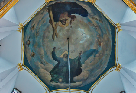Church interior in Svyatogorsk Lavra