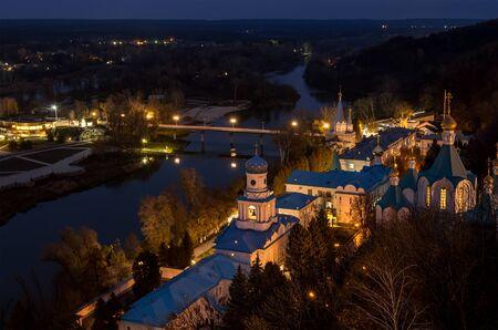 Aerial photo of Svatogorsk Lavra