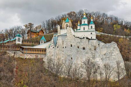 Svyatogorsk autumn scenic view Stock Photo