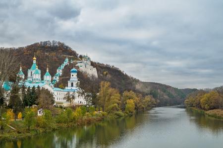 Svyatogorsk autumn scenic view Banco de Imagens