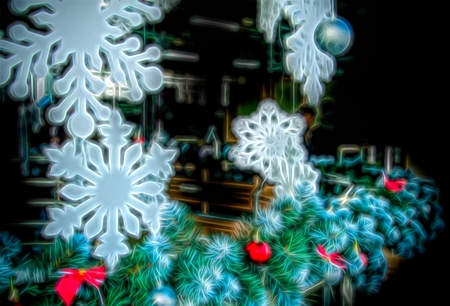Christmas decor shiny scetch emulation