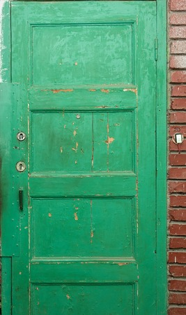 Abstrct green door with ring