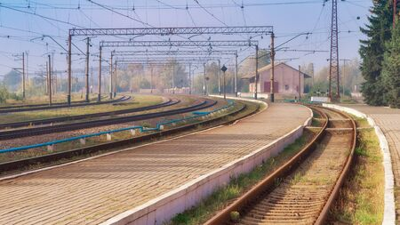 Empty railway station on daytime Banco de Imagens - 132049078
