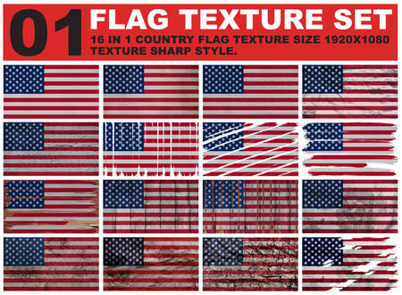 big size: United States Flag texture big size. Stock Photo