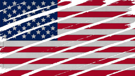 big size: United States Flag paint texture big size. Stock Photo