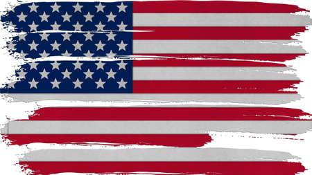 big size: United States Flag horizontal paint texture big size