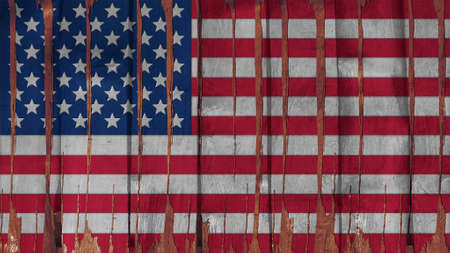 big size: United States Flag paint on wood vertical  texture big size