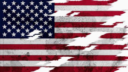 big size: United States Flag lacerate texture big size  Stock Photo