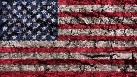 big size: United States Flag rough texture big size  Stock Photo