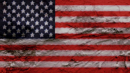 big size: United States Flag paint on the wall texture big size