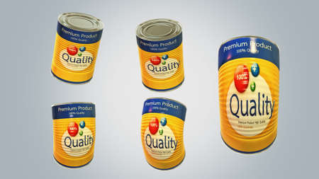 tinned: The can quality Stock Photo