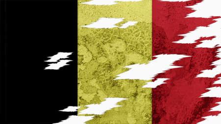spangled: Belgium Flag lacerate texture