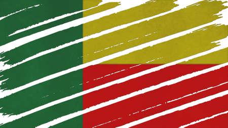 spangled: Benin Flag tinted texture
