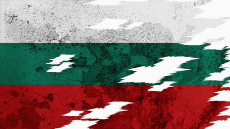 lacerate: Bulgaria Flag lacerate texture Stock Photo