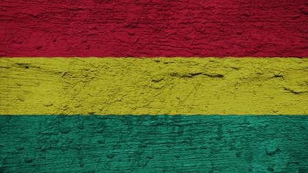 bandera de bolivia: Bandera de Bolivia en la textura de la pared Foto de archivo