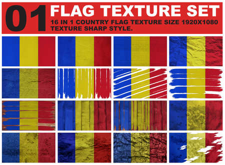 spangled: Chad Flag texture set resolution 1920x1080 pixel 16 in 1