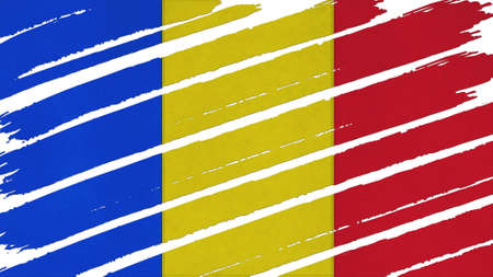 tinted: Chad Flag tinted texture Stock Photo