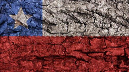 rough: Chile Flag rough texture