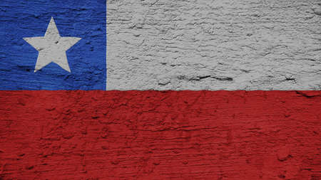 spangled: Chile Flag on the wall texture