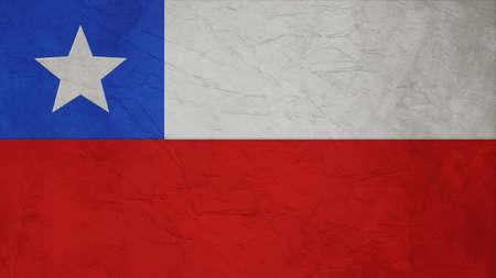 bandera chile: Textura Chile Flag Papel Crepe Foto de archivo