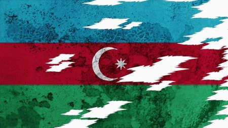 azerbaijan: Azerbaijan Flag lacerate texture